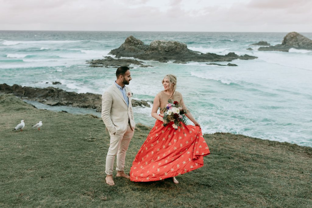 Byron Bay Wedding, Byron Bay Elopement, Luxe Elopements, Byron Bay, Pitkt Flowers, Yellow Bull Media, Byron Kombi Limo
