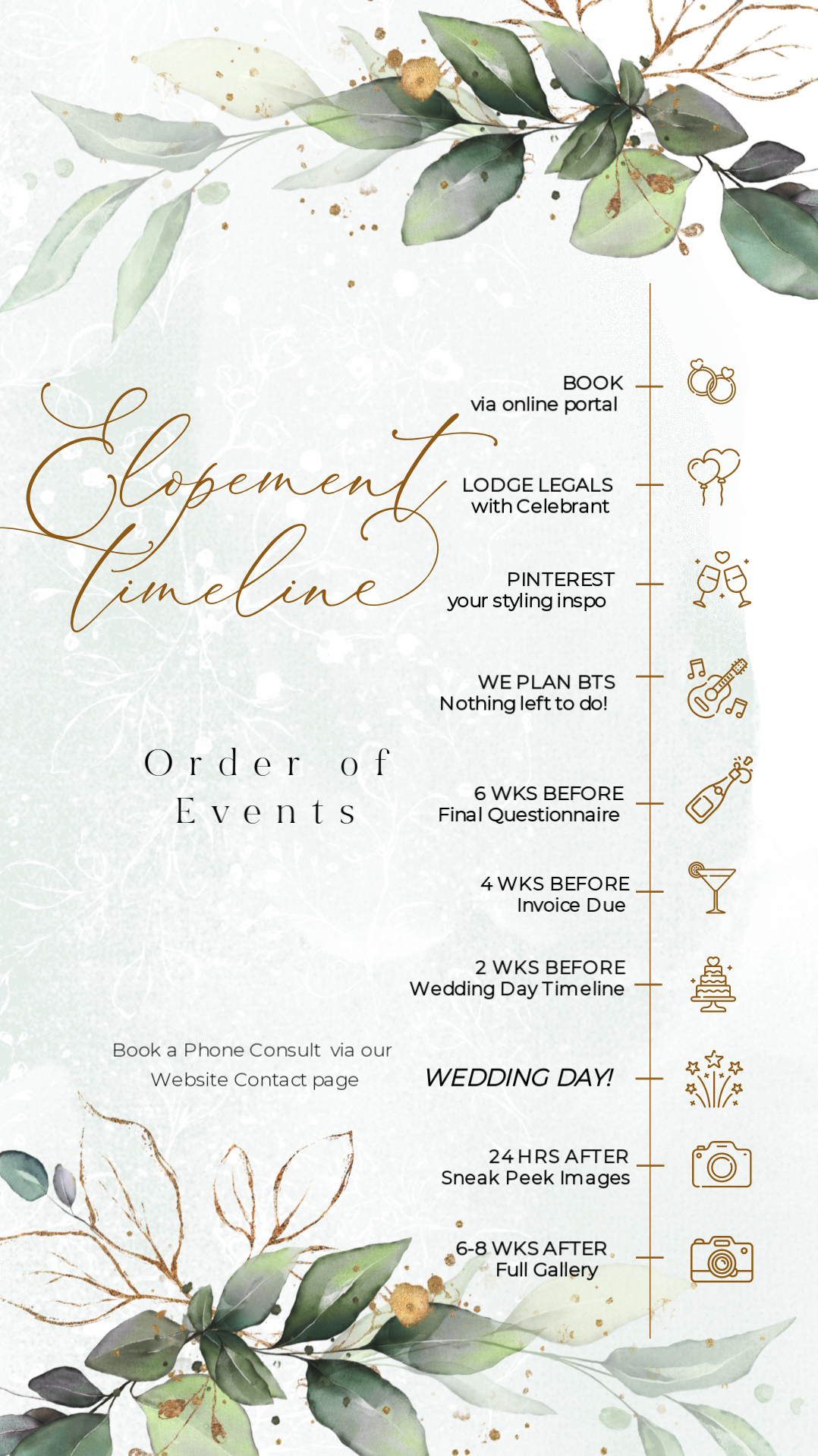 Luxe Elopements Order of Events
