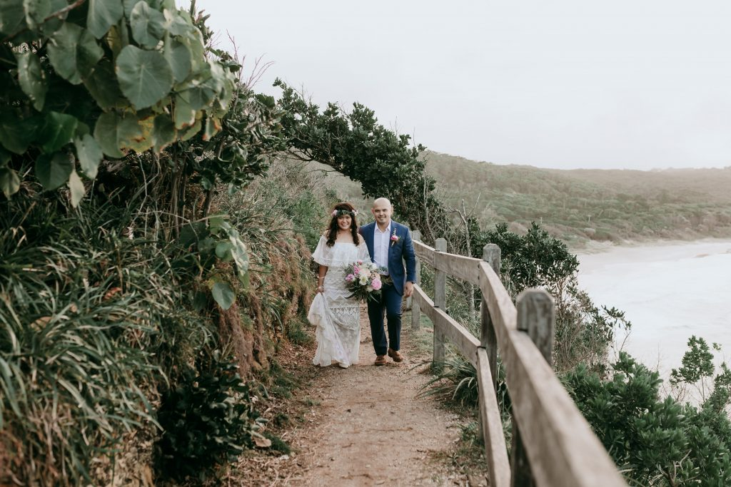 byron bay elopement, elope byron bay, pikt flowers, luxe elopements, byron wedding